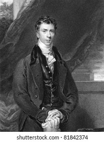 Henry Brougham (1778-1868). Engraved by H.Robinson and published in The National Portrait Gallery Of Illustrious And Eminent Personages encyclopedia, United Kingdom, 1835.