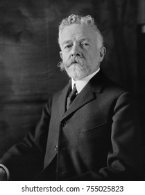 Henry Cabot Lodge, Republican Senator from Massachusetts, served from 1893-1924. Ca. 1920. As Chairman of the Senate Foreign Relations Committee, he lead the Senate's refusal to ratify of the Treaty