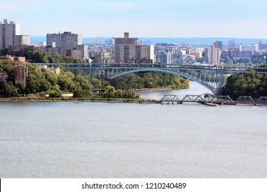 Henry Hudson and Spuyten Duyvil Bridges Spanning Spuyten Duyvil Creek Between the Bronx and Manhattan