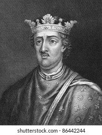 Henry II of England (1133-1189). Engraved by Bocquet and published in the Catalogue of the Royal and Noble Authors, United Kingdom, 1806.