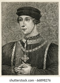 Henry VI (6 December 1421 ? 21 May 1471) was King of England. Old Engraving from Harper's Monthly 1876.