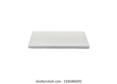 Hepa filter for a robot vacuum filter isolated on white background