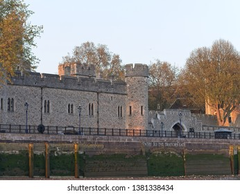 Her Majesty's Royal Palace and Fortress of the Tower of London, is a historic castle located on the north bank of the River Thames with entry to the Traitor's Gate.