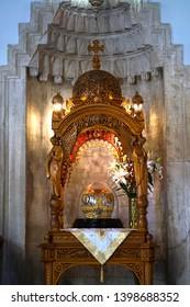 Heraklion, Greece, September 25 2018, cathedral of Agios Minas (Saint Minas) ,detail