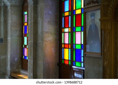 Heraklion, Greece, September 25 2018, beautifu detailsl in the church of Agios Minas (Saint Minas) Cathedral in the historic center