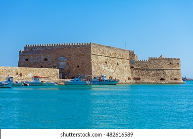 Heraklion Harbour and Fortress Kooules, Crete, Greece