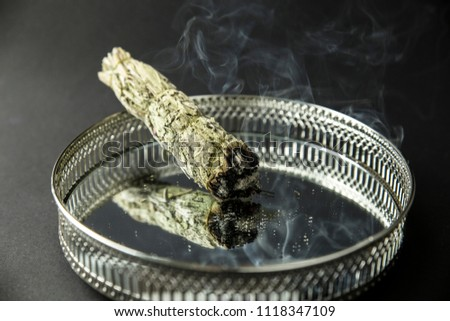 Herb Bundle Dried Sage Smudge Stick Stock Photo (Edit Now