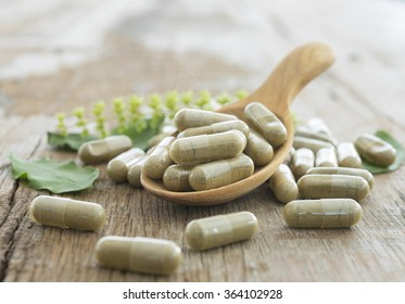 Herb capsule, Nutritional Supplement, Vitamin Pill, Herbal Medicine.
