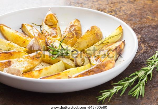 Herb roasted fingerling potatoes. Oven roasted rosemary garlic potatoes.