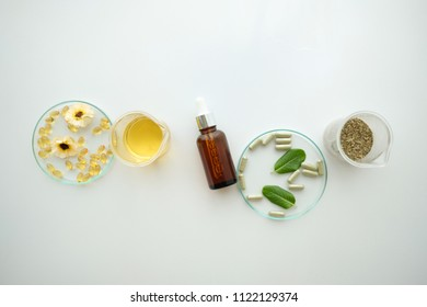 herbal alternative medicine,cosmetic nature skincare and essential oil aromatherapy .organic natural science beauty healthy product.mock up.