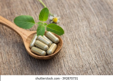 Herbal capsules from holy basil for healthy living