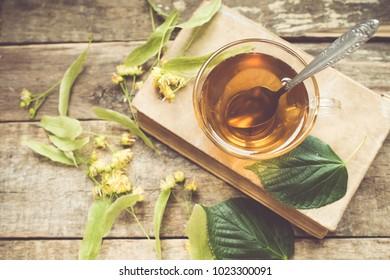 Herbal linden tea/toned photo