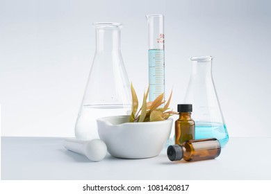 herbal medicine natural organic and scientific glassware research