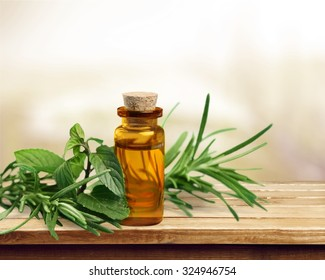 Herbal oil.