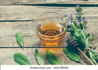 Herbal tea with sage/toned photo