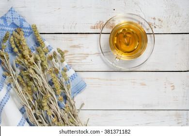 Herbal tea,mountain tea with different ingredients, mountain tea