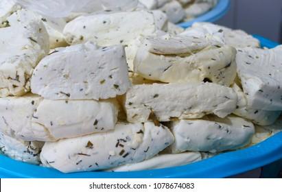 Herbed cheese. Van breakfast of Turkey