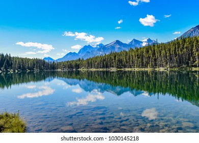Herbert Lake in Banff National Park, Canadian Rockies