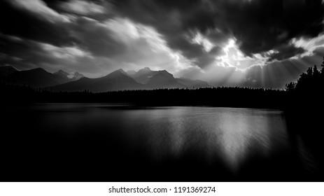 Herbert Lake in Banff National Park, Alberta, Canada