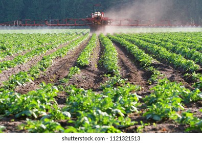 herbicide application with tractor