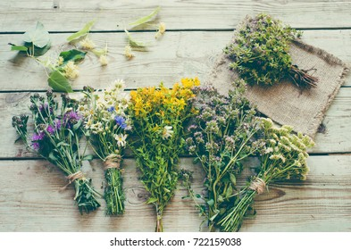 Herbs medicine flowers/toned photo