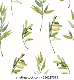 herbs of Provence seamless pattern on white background