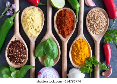 Herbs and spices fresh seasoning