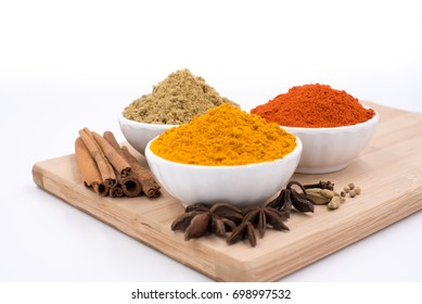 Herbs and spices on a chopping board 16