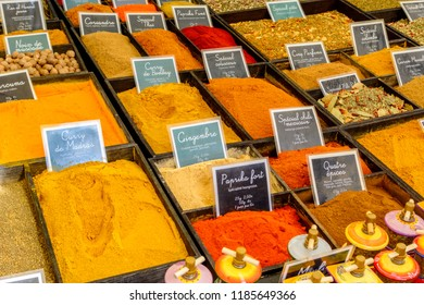 Herbs and Spices on a French market, Aix en Provence, France
