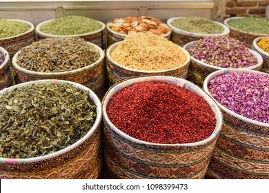 Herbs and spices in Tabriz Grand Bazaar is one of the oldest bazaars in the Middle East. Tabriz. East Azerbaijan province. Iran