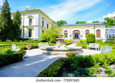 Herbst's Palace Garden in Lodz, Poland