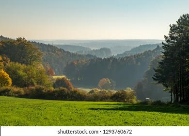 Herbstwald, Bayern, Landschaft