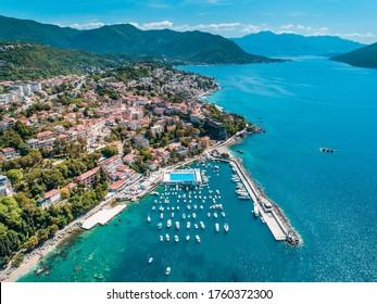 Herceg Novi, aerial view on city, Montenegro - Shutterstock ID 1760372300