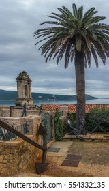 HERCEG NOVI, MONTENEGRO: - OCTOBER 20, 2015: Fort Mare fortress. A lot of anchors inside the historical museum