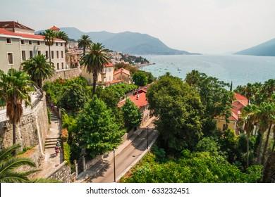 Herceg Novi. Old Town (Stari Grad). The town located at the entrance to beautiful Bay of Kotor. European city on the Adriatic coast. Herceg Novi. Montenegro, the Balkans, Europe