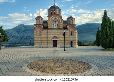 the Hercegovacka Gracanica Monastery in Trebinje, Bosnia and Herzegovina