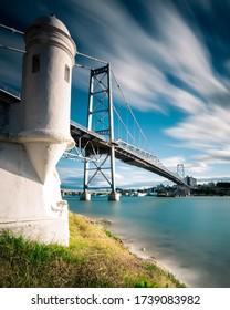 Hercilio Luz bridge during the day long exposure