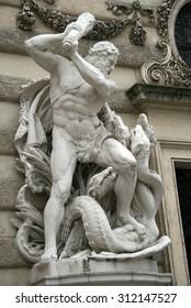 Hercules fighting the Hydra, Hofburg palace, Vienna, Austria