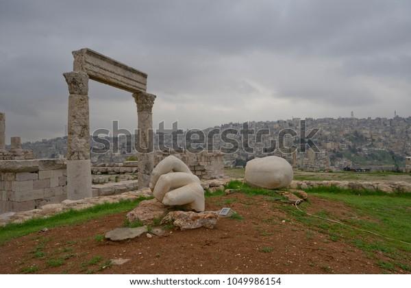 Hercules hand, Amman Citadel, Jordan