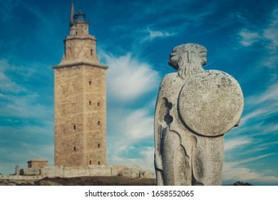 Hercules Tower. The most older roman lighthouse in the world. A Coruna. Galicia,Spain