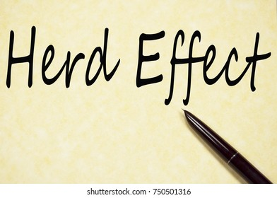 herd effect title write on paper