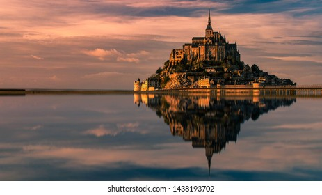 Here is a landscape of the mythical Mont St Michel