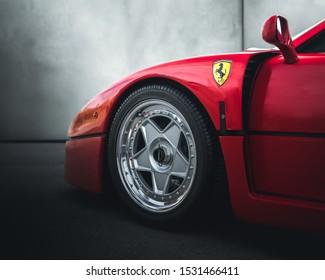 Herentals, Antwerp / Belgium - August 4, 2019: Ferrari F40