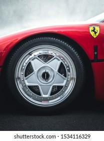 Herentals, Antwerp / Belgium - August 4, 2019: The legendary Ferrari F40