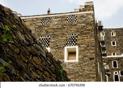 "Heritage building south Saudi Arabia in an area called ""Rijal Alalma"" near Abha City"