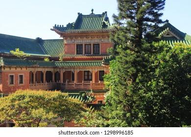 a heritage buildings of King Yin Lane, wan chai