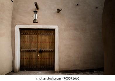 "Heritage old door in Riyadh old city ""Deriya"""