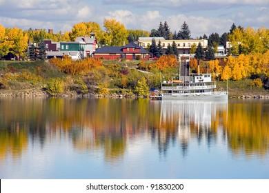 Heritage Park & Glenmore Reservoir, Calgary, Alberta, Canada.