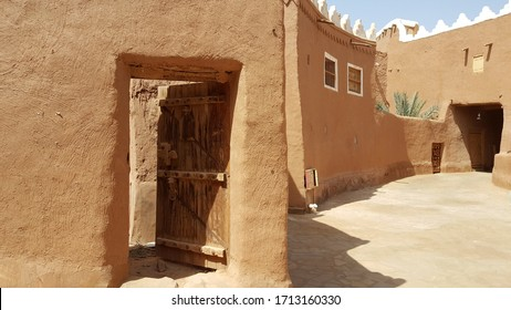 Heritage Village, Ushaiqer, Shaqra city / Saudi Arabia - March 22, 2019: Traditional old building of mud