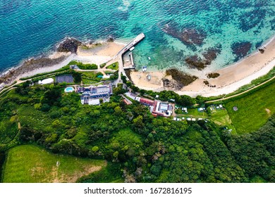 Herm island has an incredible landscape view. Image taken from above.